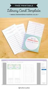 free printable library cards library card card templates and