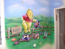 desain kamar winnie the pooh flora murals kids rooms wall paintings for baby rooms winnie