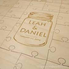 engravable wedding guest book wedding puzzle guest books wood jigsaw puzzles wall woodworks