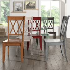 eleanor double x back wood dining chair set of 2 by inspire q