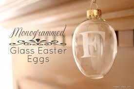 glass easter egg ornaments monogrammed glass easter egg