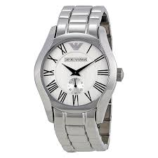 armani bracelet silver images Emporio armani men 39 s stainless steel bracelet watch ar0647 jpg