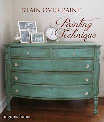 How To Paint Wooden Chairs by Painting Technique Stain Over Paint Mackenzie Apartment