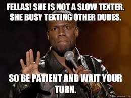 not a texter kevin hart meme so kevin