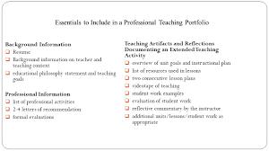 Resume Activity Portfolio 101 A Professional Teaching Portfolio Robin Rush Boggs