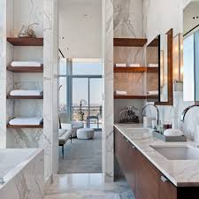 bathroom wall shelving ideas oval shape white sink white venetian