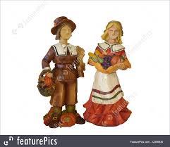 thanksgiving pilgrims isolated on white illustration