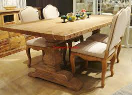 reclaimed wood trestle dining table with ideas gallery 20342 zenboa