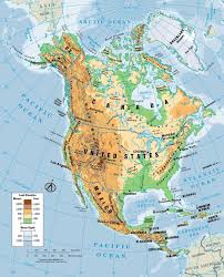 Map North America North America Physical Map For Roundtripticket Me