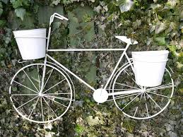 Shabby Chic Flower Pots by Large Shabby Chic Wall Mounted Bicycle Flower Planter Lovely