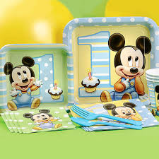 baby mickey 1st birthday mickey mouse birthday partyware disney baby