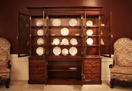 large luxurious mahogany china cabinet hutch or breakfront