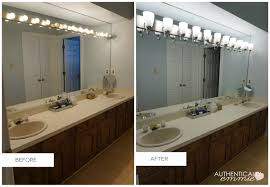 Bathroom Lighting Fixture by Replacing A Light Fixture On A Vanity Mirror