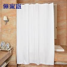 Polyester Shower Curtains Plain White Shower Curtains Modern Waterproof Polyester Shower