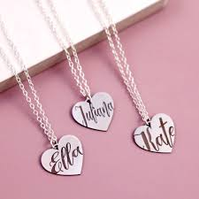 names necklace silver images Bespoke name necklace on sterling silver heart by j s jewellery jpg