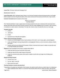 7 continents and oceans lesson plans u0026 worksheets
