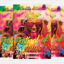 festival brochure template festival of color premium flyer template cover