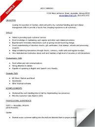 sample of resume for cashier u2013 topshoppingnetwork com