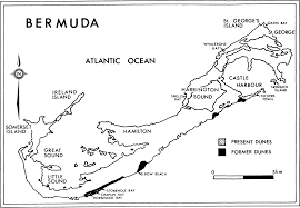 Map Of Bermuda Sandy Shores And Sand Dunes