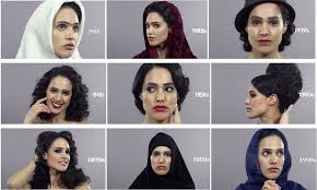 iranian women s hair styles 100 years of beauty in iran shows how women s beauty has been