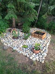 Rock Vegetable Garden Shaped Feature Garden Made With Rocks With A