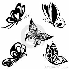 simple black butterfly designs search tattoos