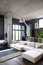 prepossessing modern loft living room decoration showing ravishing