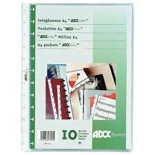 pochette bureau pochette adoc a4 paquet de 10 adoc system vente de protege