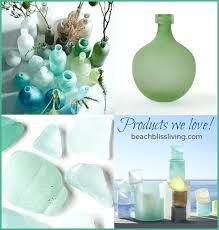 West Elm Vases Seaglass Bottle Vases U0026 Hurricanes From West Elm Beach Bliss Living