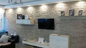 steinwand wohnzimmer fliesen wandverkleidung verblendsteine kaminverkleidung verblender
