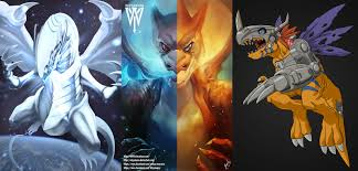blue eyes white dragon vs mega charizard vs metal greymon
