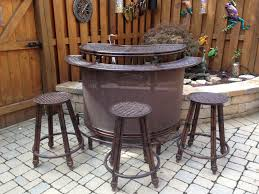 Garden Bar Table And Stools Mesmerizing Outdoor Bar Table And Stools Home And Interior Home