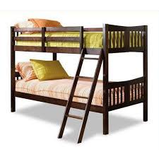 Wooden Bunk Beds Storkcraft Caribou Twin Over Twin Wood Bunk Bed Espresso