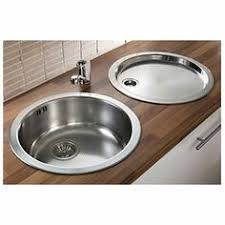 round stainless steel kitchen sink pyramis stainless steel reversible round bowl kitchen sink tap