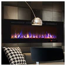 Fireplace Insert Screen by Moda Flame Bliss Crystal Recessed Touch Screen Wall Mount Electric