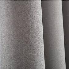 White Linen Blackout Curtains Leyden Grommet Top Classic Solid Gray Linen Curtains Panel