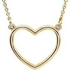 platinum heart necklace images Platinum or 14k gold or sterling silver heart cut out necklace jpeg