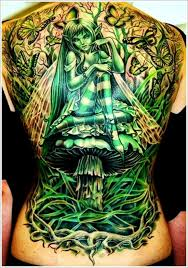 green fairy tattoo designs for on back free fairy tattoo