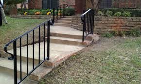 Outdoor Metal Handrails Handrails Dallas Iron Rails Dallas Dallas Fence Company