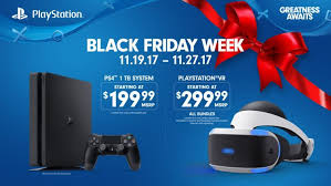 playstation s black friday 2017 deals 200 ps4 ps vr bundles and