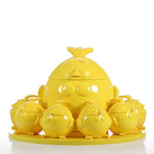 best and cheap yellow tomfeel cartoon chicken family resin