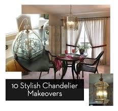 How To Make A Fake Chandelier Roundup 10 Stylish Chandelier Makeovers Curbly