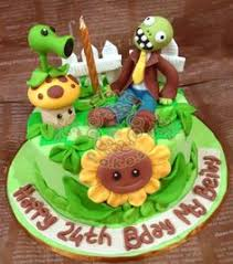 Plants Vs Zombies Cake Decorations The Cake Class Plants Vs Zombie Cake Tutorial Baking