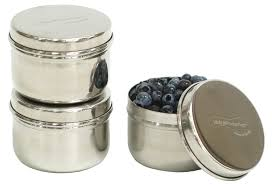 Stainless Steel Canisters Kitchen Amazon Com U Konserve Stainless Steel Mini Food Containers Set