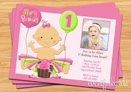 1st birthday party invitations iidaemilia com