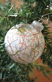 map ball ornaments make 1 for each memorable place crafts