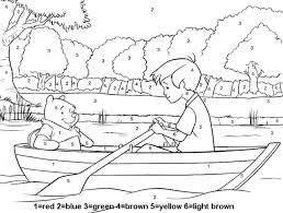 winnie the pooh color by number disney coloring pages free