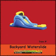 Water Slide Backyard by Backyard Water Slide Backyard Inflatables