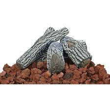 Fire Pit With Lava Rocks - uniflame hexagon propane fire pit with slate tile mantel