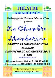 la chambre mandarine théâtre la chambre mandarine à margency les samedi 19 et